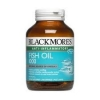 Blackmores Fish Oil 1000 mg 80 แคปซูล ลดไขมันในเลือดโดยเฉพาะไขมันจำพวกไตรกรีเซอไรด์