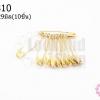 เข็มกลัด สีทอง (บาง) #0 6X29มิล(10ชิ้น)