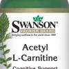 ((ซื้อ 2 แถม 1)) Swanson Acetyl L-Carnitine 500 mg 100 แคปซูล (USA) 2 ขวด แถมฟรี ขนาด 30 เม็ด 1 ขวด ช่วยเร่งเผาผลาญไขมันในร่างกาย ปลอดภัยไม่มีผลต่อสมอง