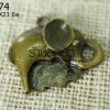 จี้รูปช้าง สีทองเหลือง 26X23 มิล (1ชิ้น)
