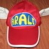 หมวก อาราเล่ (Arale) ติดปีก สีแดงเข้ม