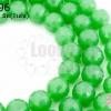 คริสตัลจีน ทรงกลมเจียร สีเขียวขุ่น 10มิล(1เส้น)