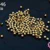 ลูกปัดโลหะ ทองเหลือง กลมเหลี่ยม 2.5มิล (1ขีด/100กรัม)