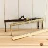 ปากกระเป๋าโลหะ ปิ้กแป้ก Metal frame ทรงเหลี่ยมคลาสสิค ขนาด 20 cm มีสองสี ดำ และ ทอง