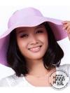 หมวกปีกกว้าง หมวกแฟชั่น กันแดด - สีม่วงอ่อน