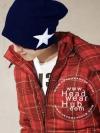 หมวกไหมพรม แฟชั่นเกาหลี - Blue