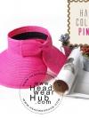 หมวกปีกกว้าง หมวกแฟชั่น กันแดด - Pink