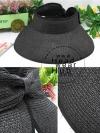 หมวกปีกกว้าง หมวกแฟชั่น กันแดด - Black