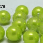 ลูกปัดมุก พลาสติก สีเขียวอ่อน 1ขีด