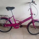 จักรยานพับ สีชมพู ไม่มีเกียร์คะ