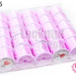 เอ็นยืด สีชมพูอ่อน ม้วนใหญ่ (25ม้วน)