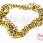 โซ่ห่วง สีทอง(ชุบ) 3X4มิล (1หลา/90ซม.)