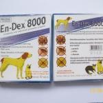 En-Dex 8000 ( ไอเวอร์เม็คติน ชนิดเม็ด ) บรรจุแผงละ 10 เม็ด