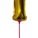 """ลูกโป่งฟอยล์รูปตัวเลข 1 สีทองไซส์เล็ก 14 นิ้ว - Number 1 Shape Foil Balloon Size 14"""" Gold Color"""