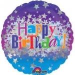 ลูกโป่งฟลอย์นำเข้า Happy Birthday Bright Stars / Item No. AG-24653 แบรนด์ Anagram ของแท้