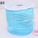 หนังชามัวร์(หนังแบน) สีฟ้า No.76 (1ม้วน/100หลา)