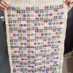 ผ้าปักลายโบราณ พื้นสีขาว