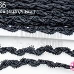 ผ้าลูกไม้ สีดำ กว้าง 12มิล (1หลา/90ซม.)