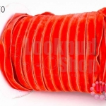 เชือกผ้า ริบบิ้นกำมะยี่ สีแดง (1ม้วน/50หลา)