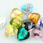 ลูกปัดแก้วหินอินเดีย คละสี 15มิล(10ชิ้น)