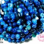หินอาเกตดวงตา สีฟ้า 12 มิล (จีน) (1เส้น)