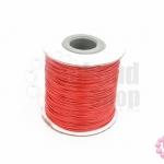 เชือกค๊อตต้อนเคลือบ สีแดง 0.5มิล(1ม้วน)(100หลา)
