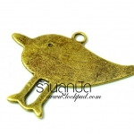 จี้ทองเหลืองรูปนกแบบเรียบ ขนาด 32 มิล ยาว 31 มิลราคา 15 บาท