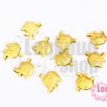 จี้ช้างจิ๋ว สีทองเหลือง 11X11มิล(10ชิ้น)
