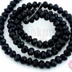 คริสตัลจีน ทรงซาลาเปา สีดำขุ่น 4มิล(1เส้น)
