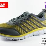 ผ้าใบวิ่ง BAOJI บาโอจิ รุ่น DK99335 สีเทาเหลือง เบอร์ 41-45