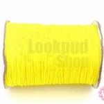 เชือกค๊อตต้อนเคลือบ สีเหลืองสะท้อนแสง 1.0มิล(1ม้วน)(100หลา)