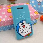 ** Pre-order ** เคส iPhone 5 ฝาพับข้าง ลาย Doraemon สีฟ้า