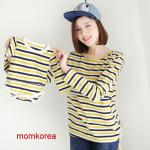 mm45009 เสื้อแม่ลูก โทนสีเหลือง เสื้อคุณแม่เปิดให้นมแนวนอน ผ้านิ่มใส่สบายมากๆ ค่ะ