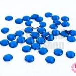 เพชรแต่ง กลม สีน้ำเงิน ไม่มีรู 8มิล(40ชิ้น)