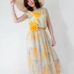 พร้อมส่ง ** เดรส Flower Blossom on The Beach maxi dress พร้อมเข็มขัด