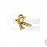 จี้ทองเหลือง ตัวอักษร K 10X14 มิล(1ชิ้น)
