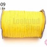 เชือกค๊อตต้อนเคลือบ สีเหลือง 1.0มิล(1ม้วน)(100หลา)