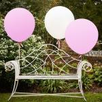 ลูกโป่งจัมโบ้ สีชมพู ขนาด 36 นิ้ว - Round Jumbo Balloon Pink