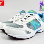รองเท้าผ้าใบวิ่่ง BAOJI บาโอจิ รุ่นDS678 สีฟ้า เบอร์ 37-41