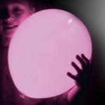 ลูกโป่ง LED สีชมพู แพ็ค 5 ชิ้น ไฟสว่างเหมือนโคมไฟ (LED Pink Balloon - LED Fixed Mode)