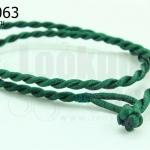 สร้อยคอเชือกถักเกลียว สีเขียว 42ซม(1เส้น)