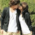 ชุดคู่รัก เสื้อคู่รักเกาหลี เสื้อผ้าแฟชั่น เสื้อแจ็คเก็ตเกาหลีแขนยาวสีดำมีกระดุม  +พร้อมส่ง+