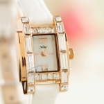 Pre-order: Big diamond cut diamond H Fashion watch