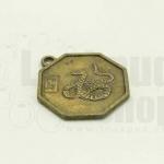 เหรียญจีน สิบสองนักษัตร ปีมะเส็ง 25X28มิล(1ชิ้น)