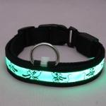 ปลอกคอ LED ลาย Pluto Collar สีเขียว ไซส์ XL สำหรับสุนัข