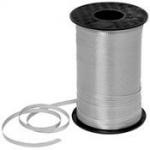ริบบิ้นม้วนใหญ่สีเทา (สีเงิน) สำหรับผูกลูกโป่ง ยาว 350 เมตร - Silver Curling Ribbon