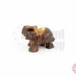หินไทเกอร์อาย ช้าง 20X37มิล (1ชิ้น)