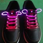 เชือกผูกรองเท้าไฟสีชมพู Shoelace - LED Pink color