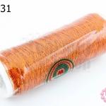 เส้นดิ้นสำหรับทำสร้อยหิน สร้อยมุก สีทองแดง (1หลอด)