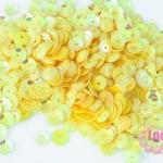 เลื่อมกลม สีเหลือง 6มิล(5กรัม)